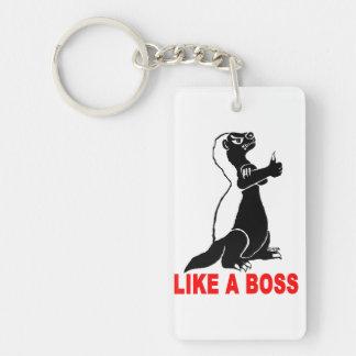 Honey badger, like a boss key ring