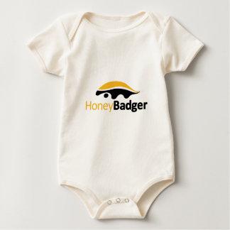Honey Badger Logo Baby Bodysuit