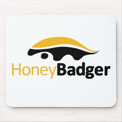 Honey Badger Logo Mouse Pads
