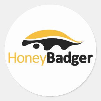 Honey Badger Logo Round Sticker
