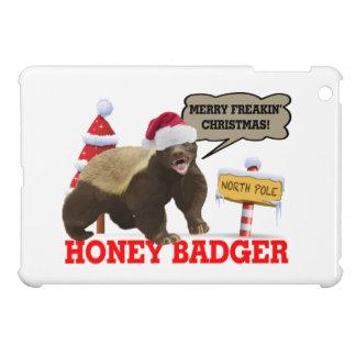 Honey Badger Merry Freakin' Christmas iPad Mini Cover