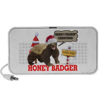 Honey Badger Merry Freakin' Christmas Mini Speakers
