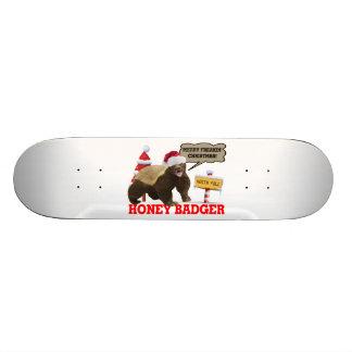 Honey Badger Merry Freakin' Christmas Skate Board Decks