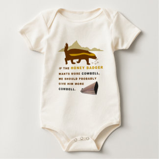 Honey Badger More Cowbell Baby Bodysuit