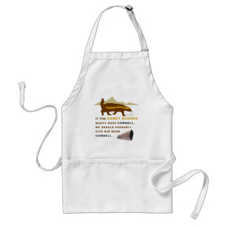 Honey Badger More Cowbell Standard Apron