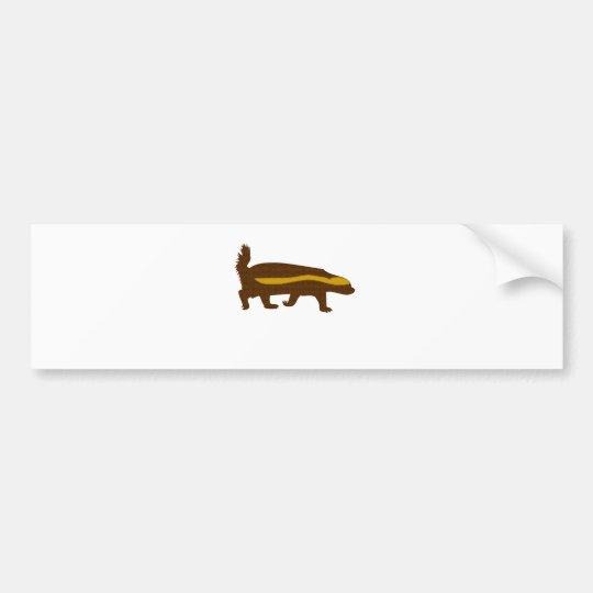 honey badger mosaic bumper sticker
