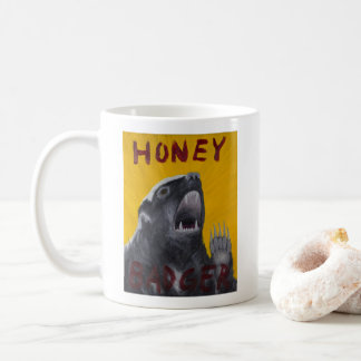 Honey Badger Motivational Painting Mug