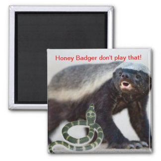 honey badger not scared magnet