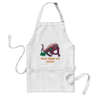 honey badger not scared standard apron
