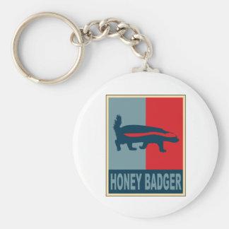 Honey Badger Obama Basic Round Button Key Ring