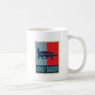 Honey Badger Obama Basic White Mug