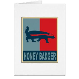 Honey Badger Obama Greeting Card