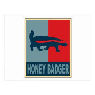 Honey Badger Obama Postcard