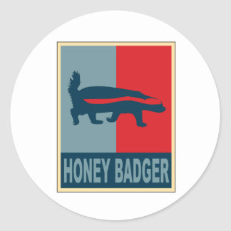 Honey Badger Obama Round Sticker