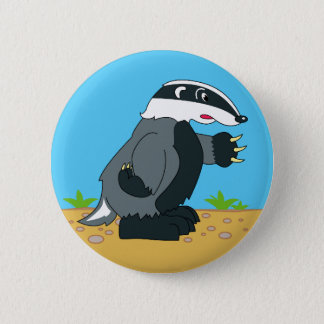 HONEY BADGER OR NOT 6 CM ROUND BADGE