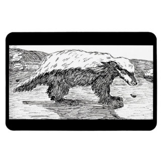 Honey Badger, Or Ratel Rectangle Magnets