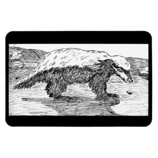 Honey Badger, Or Ratel Rectangular Photo Magnet
