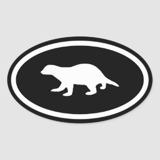 Honey Badger Oval Sticker