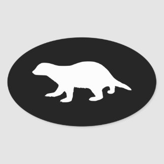 Honey Badger Oval Sticker