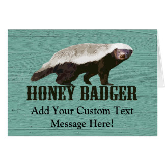 Honey Badger Profile View Greeting Card