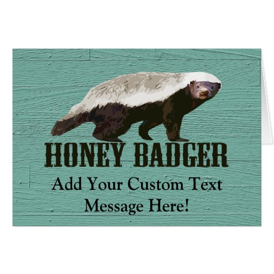 Honey Badger Profile View Card