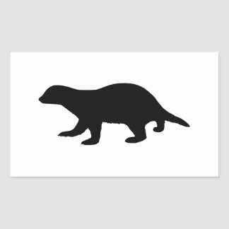 Honey Badger Rectangular Sticker