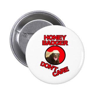 Honey Badger Red Pinback Button