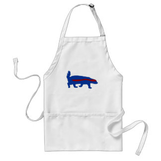 honey badger red and blue aprons
