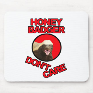 Honey Badger Red Mouse Pad
