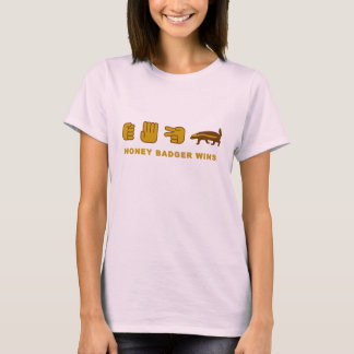 honey badger rock scissor paper T-Shirt