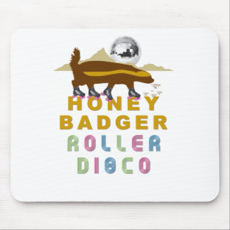honey badger roller disco mouse pad