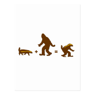Honey Badger Sasquatch Hybrid Postcard