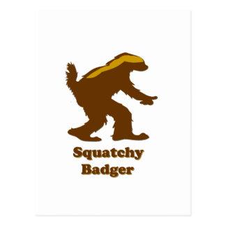 Honey Badger Sasquatch Hybrid Postcards
