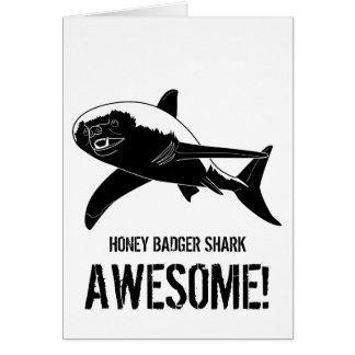 Honey Badger Shark (Greetings) Card