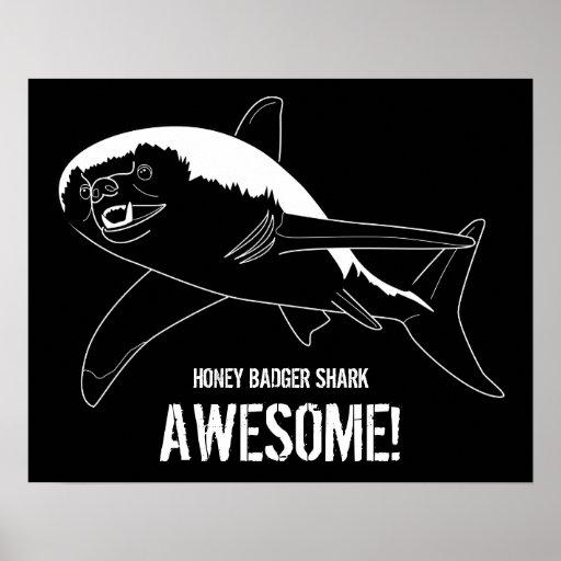 Honey Badger Shark Print