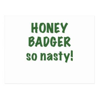 Honey Badger So Nasty Postcard