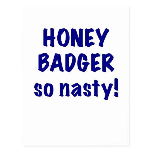 Honey Badger, So Nasty! Post Cards
