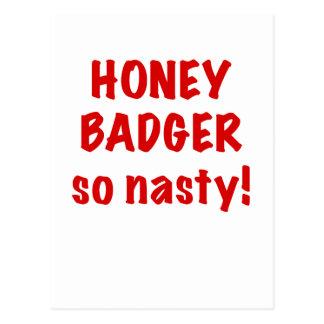 Honey Badger, So Nasty! Postcard