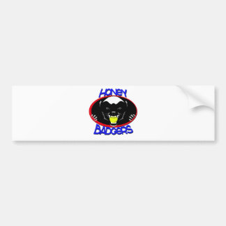 Honey Badger Softball Bumper Sticker