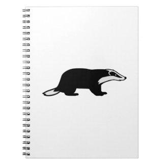 Honey badger spiral note book