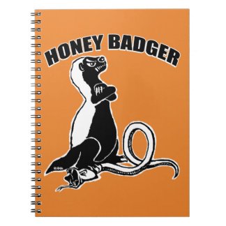 Honey badger spiral notebook