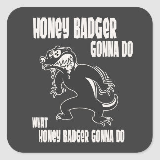 Honey Badger Square Sticker