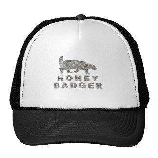 honey badger stone trucker hat