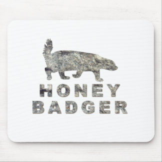 honey badger stone mouse pad