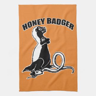 Honey badger tea towel