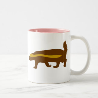honey badger Two-Tone coffee mug
