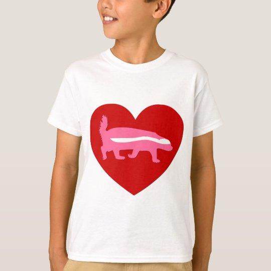 honey badger valentine T-Shirt