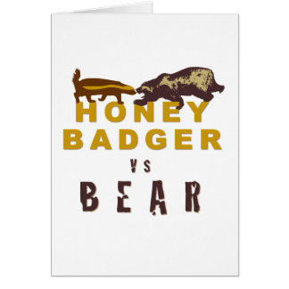 Honey Badger vs Bear Card