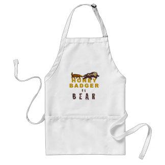 Honey Badger vs Bear Standard Apron