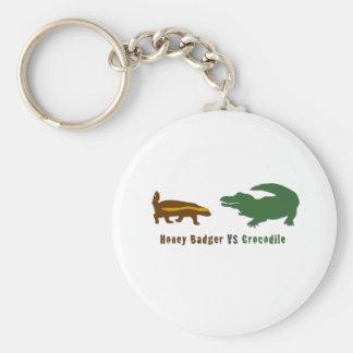 Honey Badger VS Crocodile Key Ring